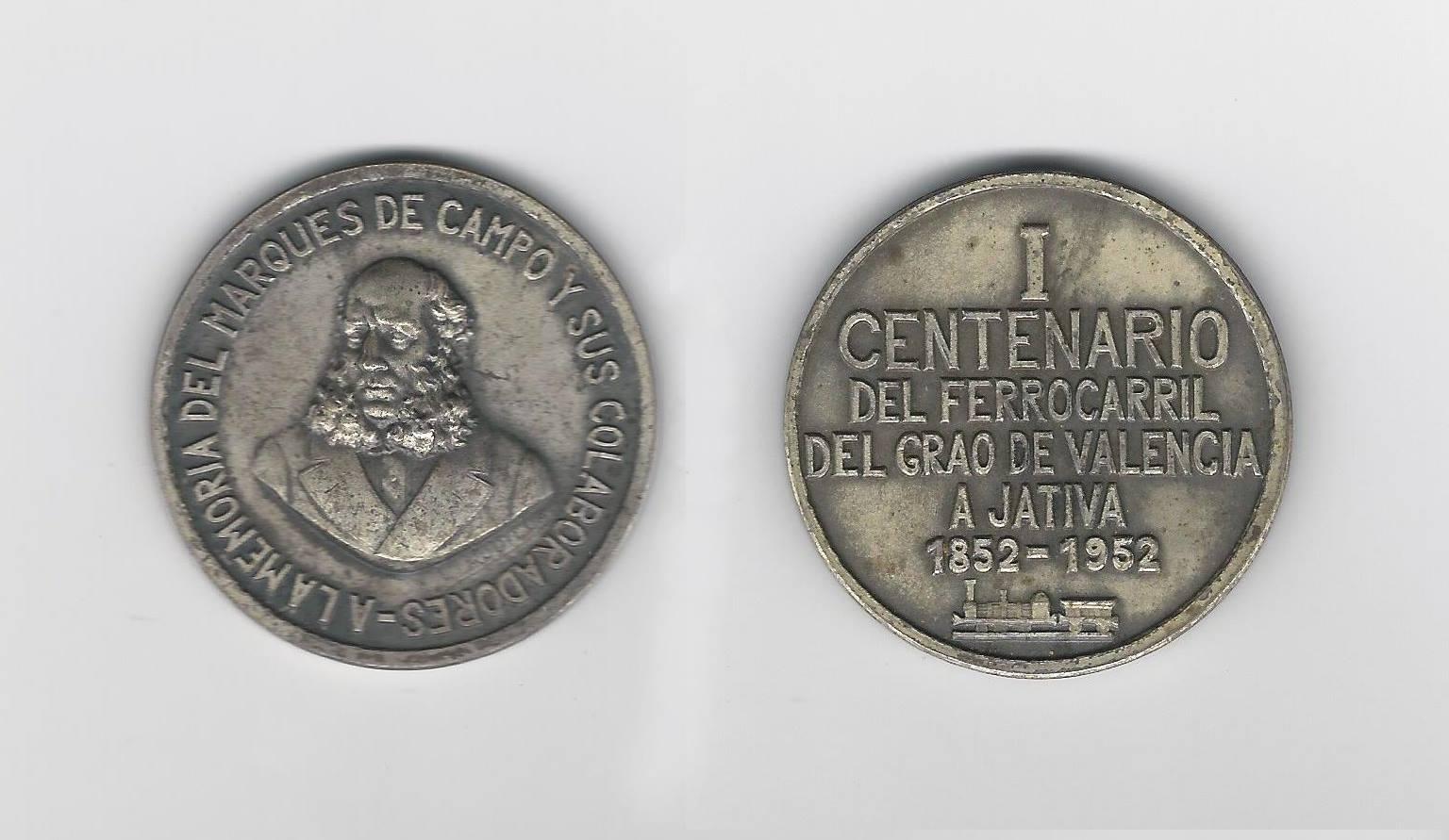 Medalla del Centenario. Escaneo facilitado por Tono Giménez