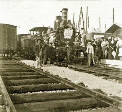 Imagen original de la inauguración en 1852.  Fuente: juanansoler.blogspot.com.es