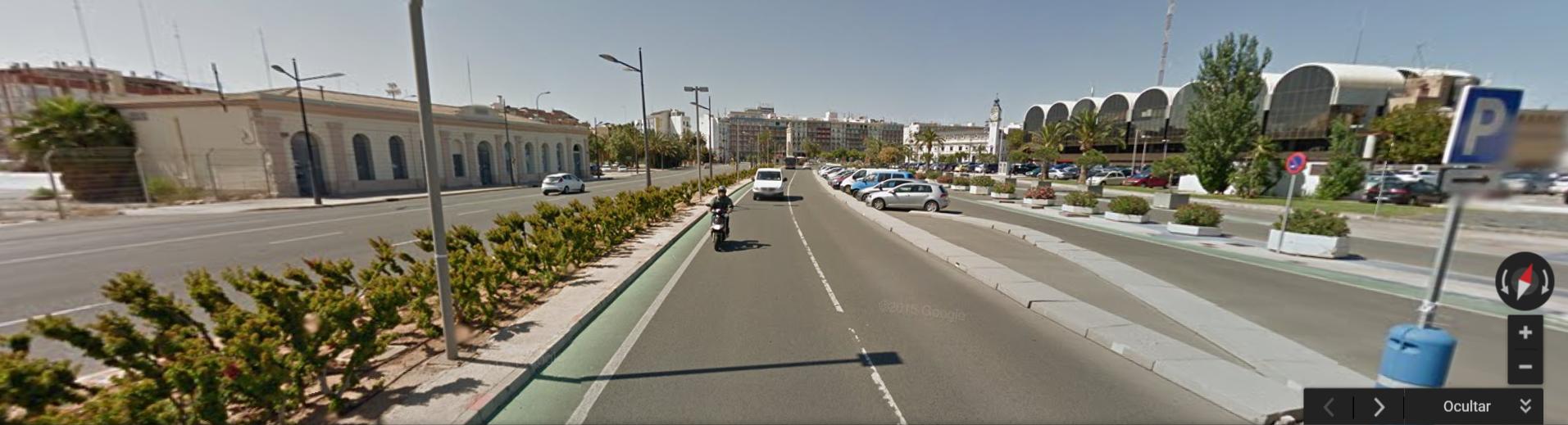Situación actual de abandono y localización. Foto de Mayo de 2015 (Google maps)