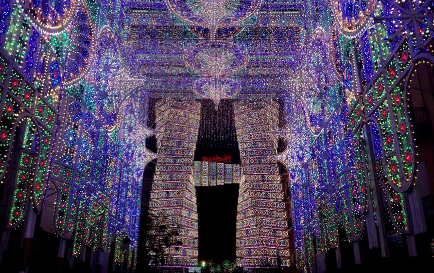 Encendido de luces fallas 2016 iluminaci n calles - Iluminacion en valencia ...
