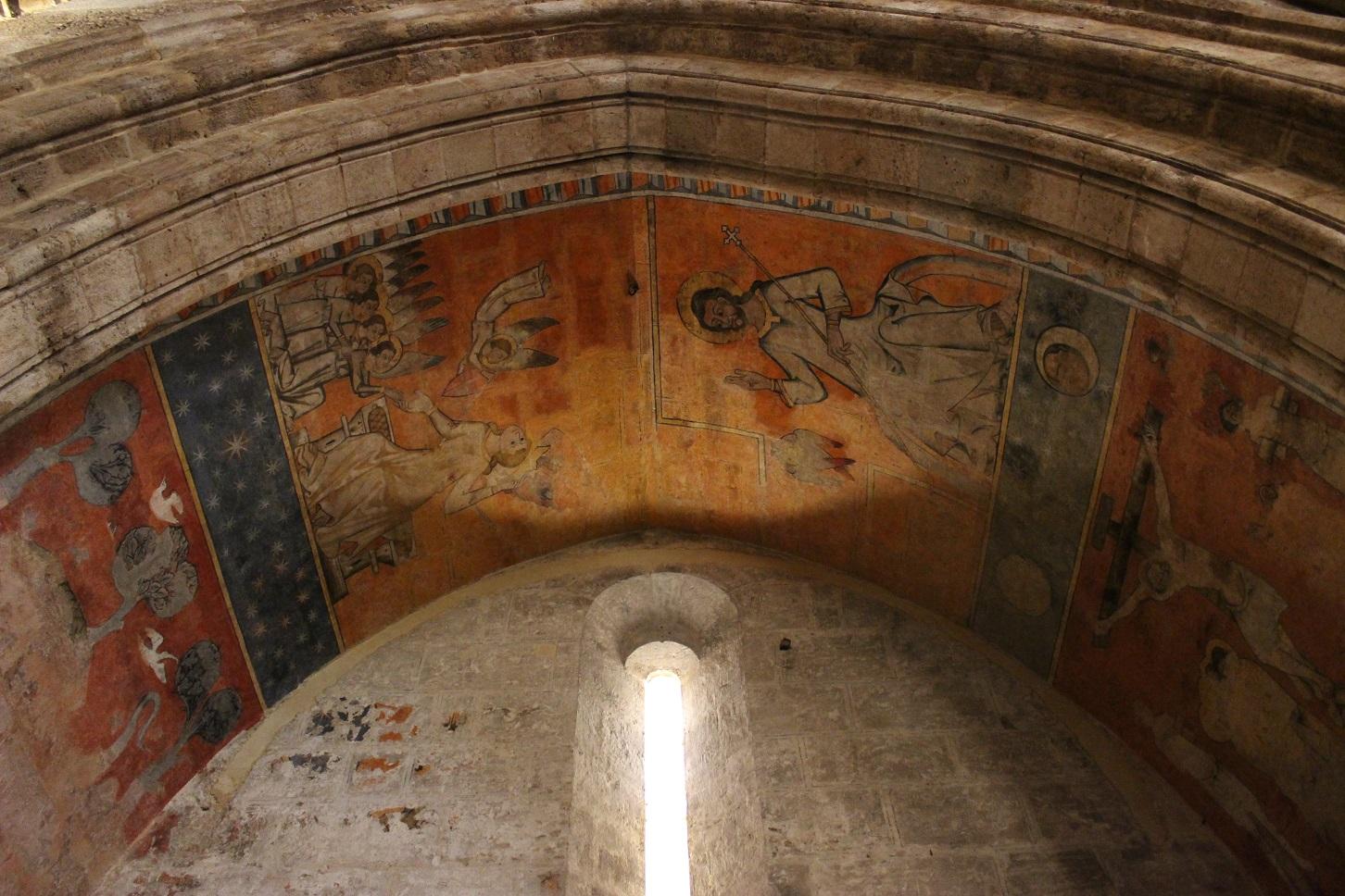 Pinturas Murales capilla San Miguel Arcángel de la Iglesia de San Juan del Hospital de Valencia. Fuente: © Valenciabonita.es – Por favor, si compartes esta imagen indica la fuente :)