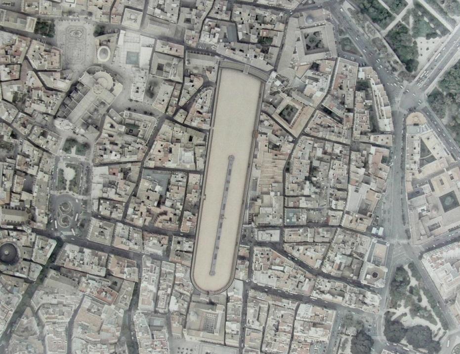 El lugar donde hoy se situaría el Circo Romano de Valentia