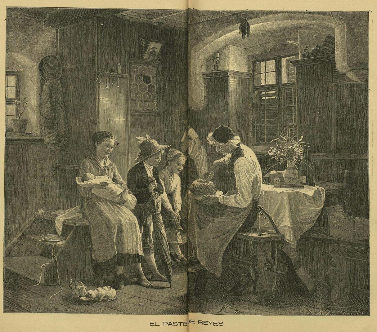 Pastel de Reyes. El Álbum ibero americano (7/1/1897).