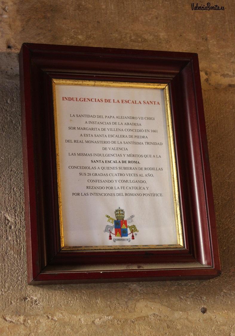 Escala Santa Valencia. Imagen propiedad de ValenciaBonita.es