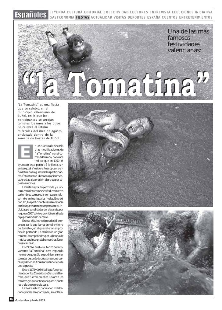 Recorte de una revista de Montevideo.