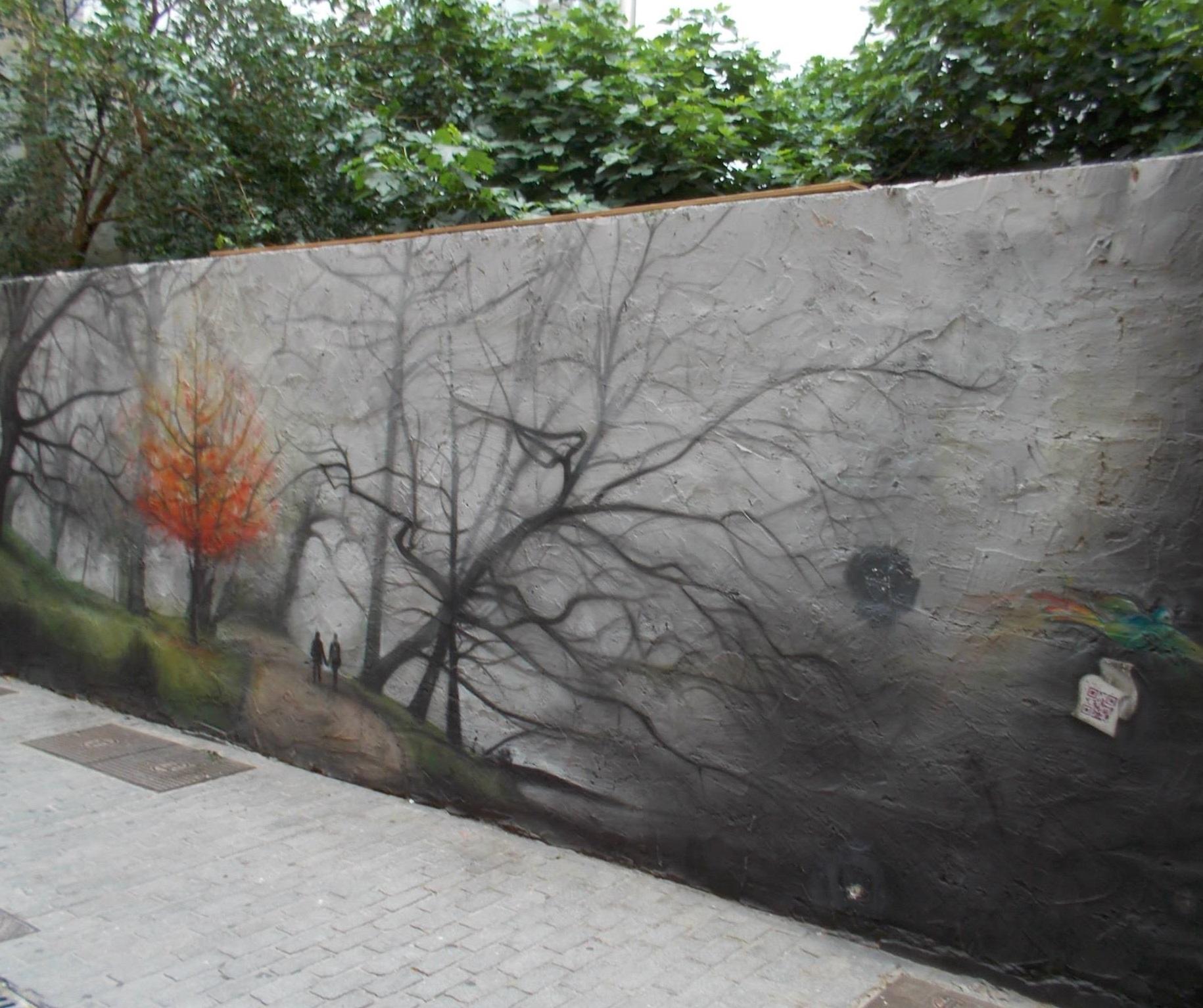 """Fuente: Valencia en graffitis. Título: """"Otoño en Bremen"""". Autor: Zingaro"""
