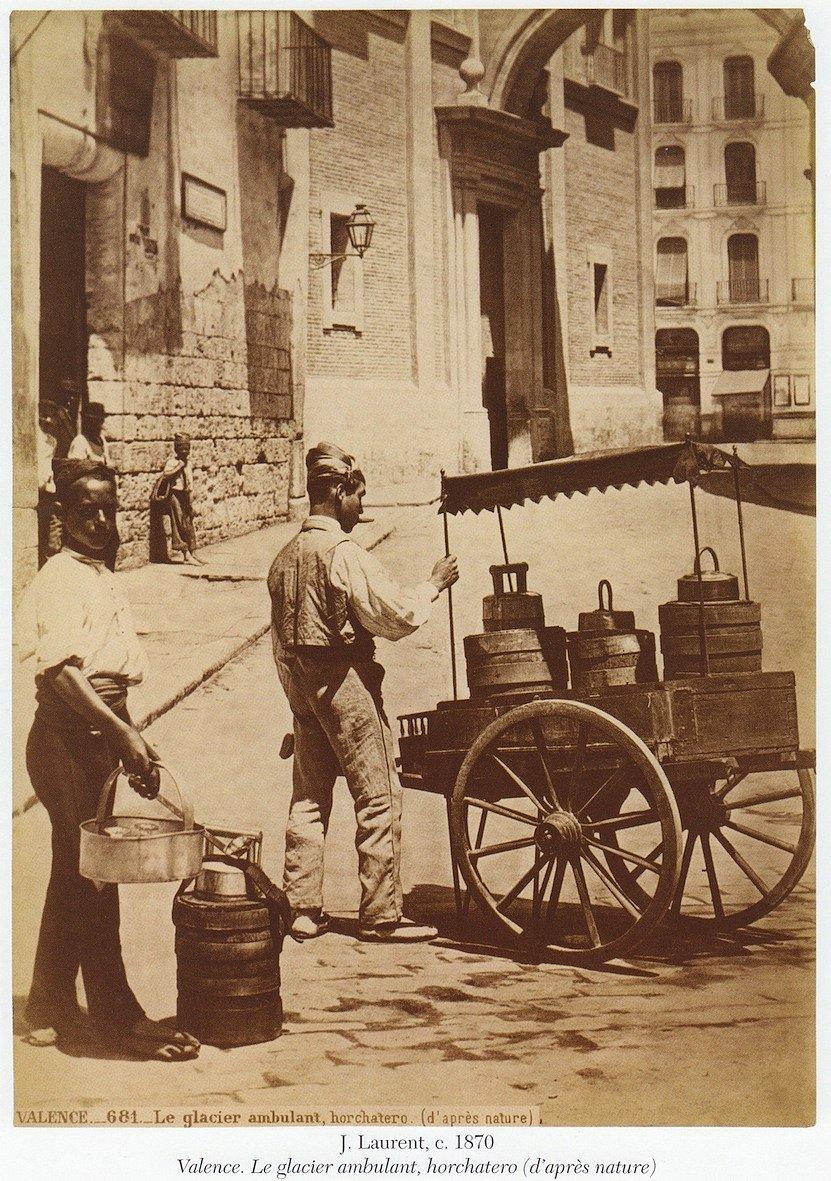 Horchatero de 1870. Fuente: juanansoler.blogspot