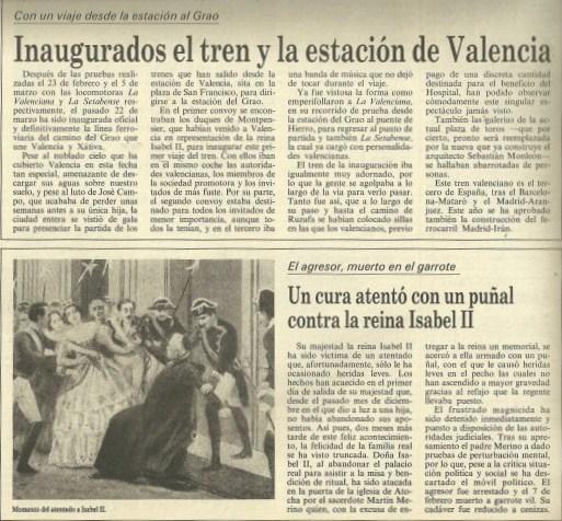 Recorte de periódico de la época. Fuente: juanansoler.blogspot.com