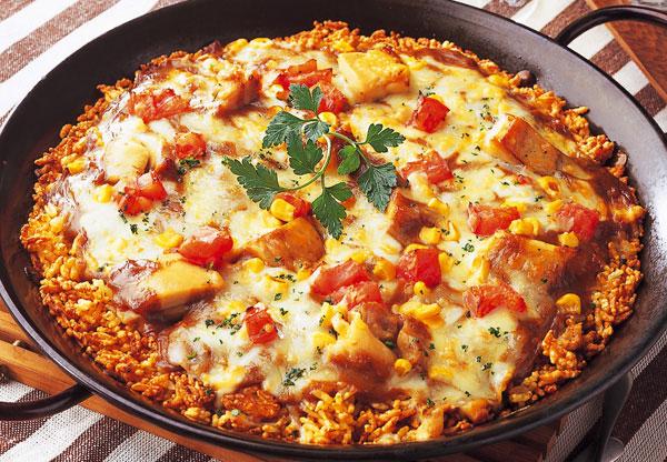 Paella-pizza