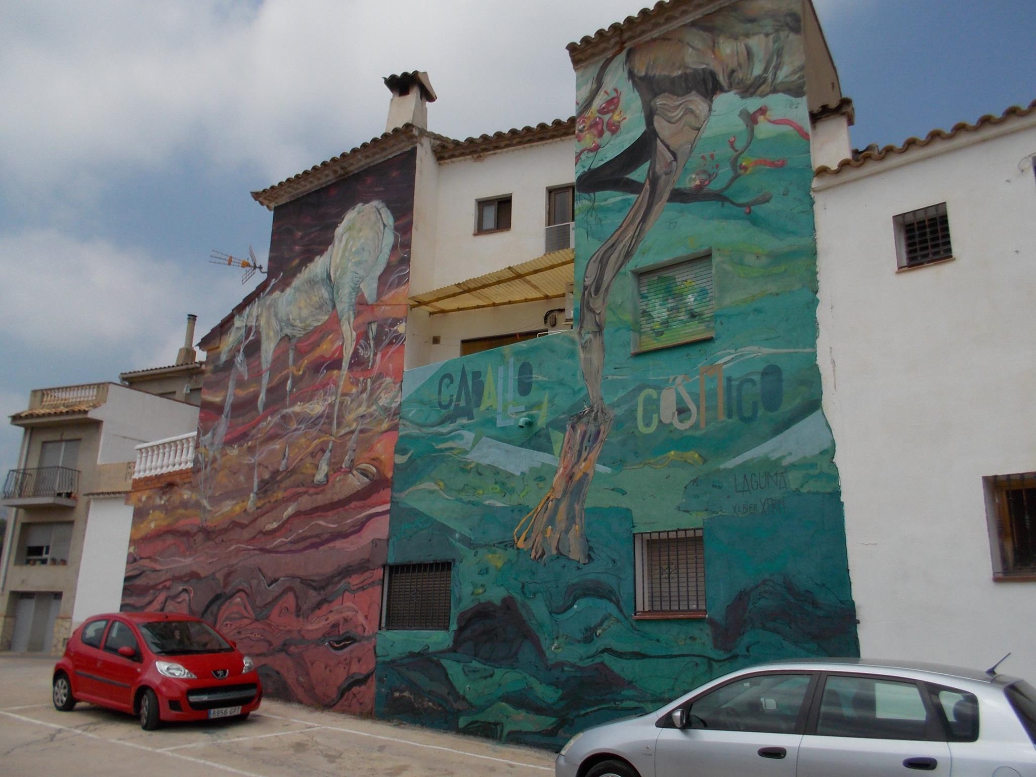 Mural del Miau Fanzara, el llamado MUSEO INACABADO, En Fanzara, Castellón