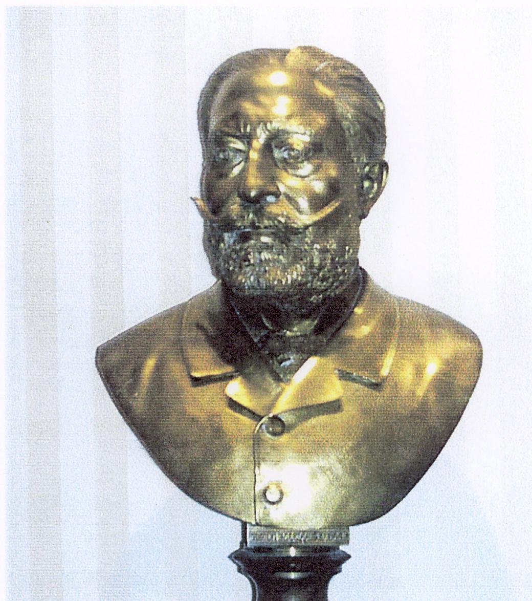 D. Nicolás Garcia Caro Vergés y Agustí, primer Marqués de Caro. Busto fundido por Vicente Rios. Fuente: wikipedia