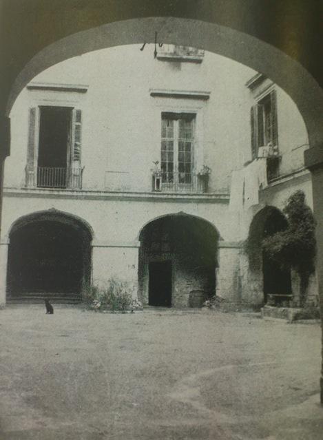 Años 50 - Interior Palacio de Parcent. Fuente: http://palaciosdevalencia.blogspot.com.es/