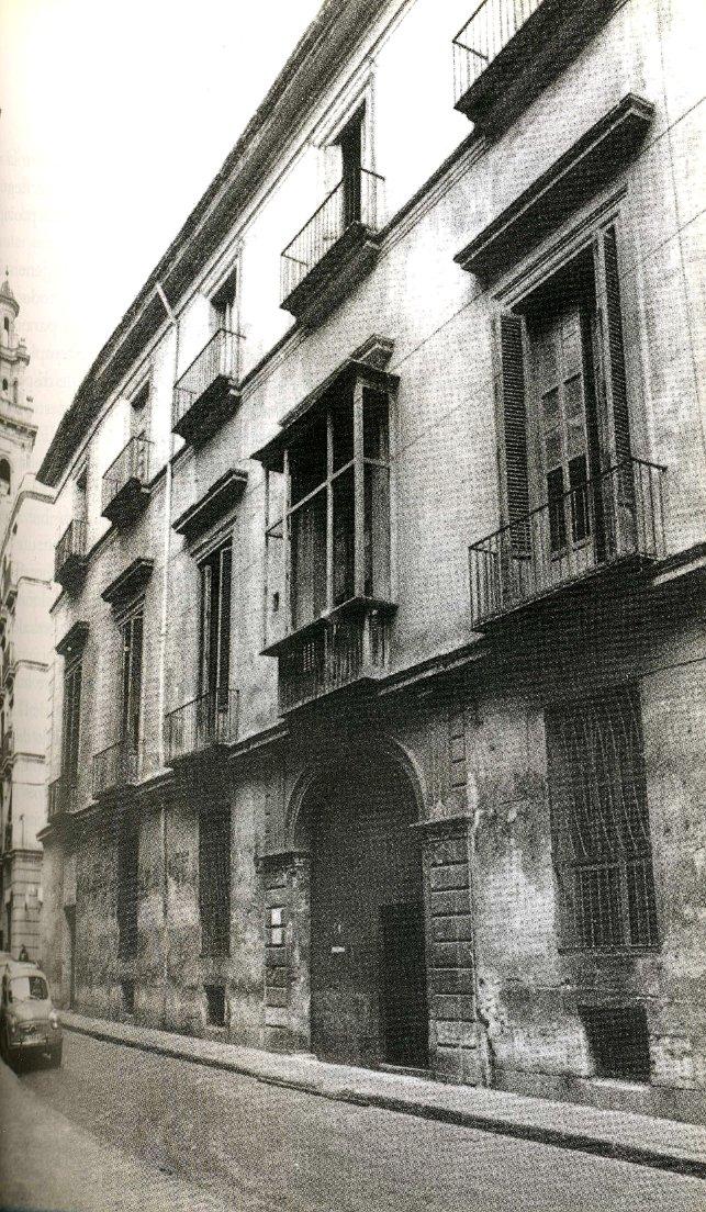 Palacio de Parcent derribado en 1965. Fuente: http://palaciosdevalencia.blogspot.com.es/