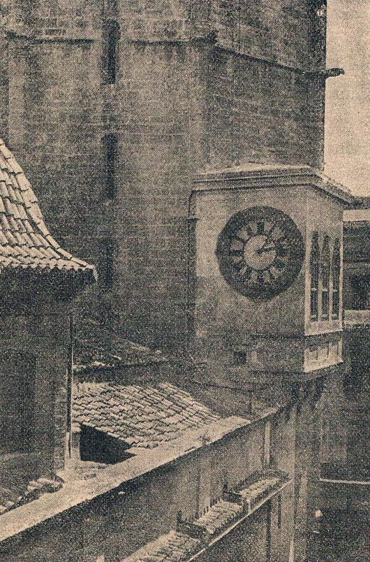 Reloj del Micalet. 1915. Fuente: valenciablancoynegro.blogspot.com