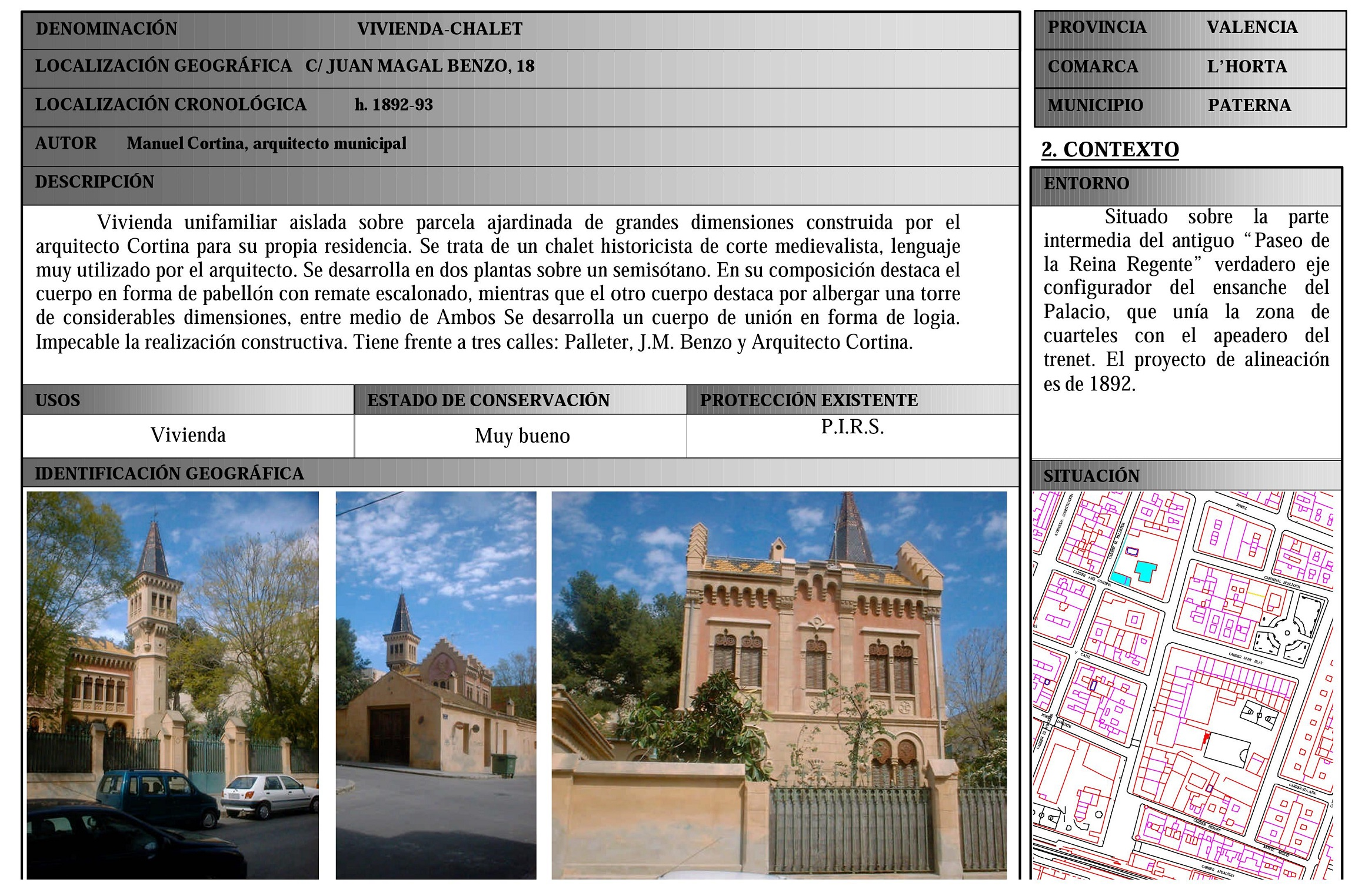 Fuente: Archivo Municipal de Paterna.