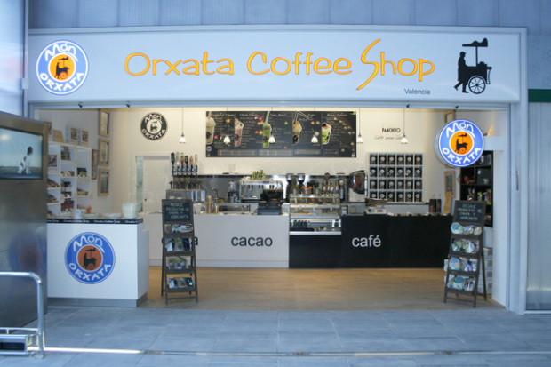 Orxata Coffee Shop. Fuente: thehorchatatimes.files.wordpress.com