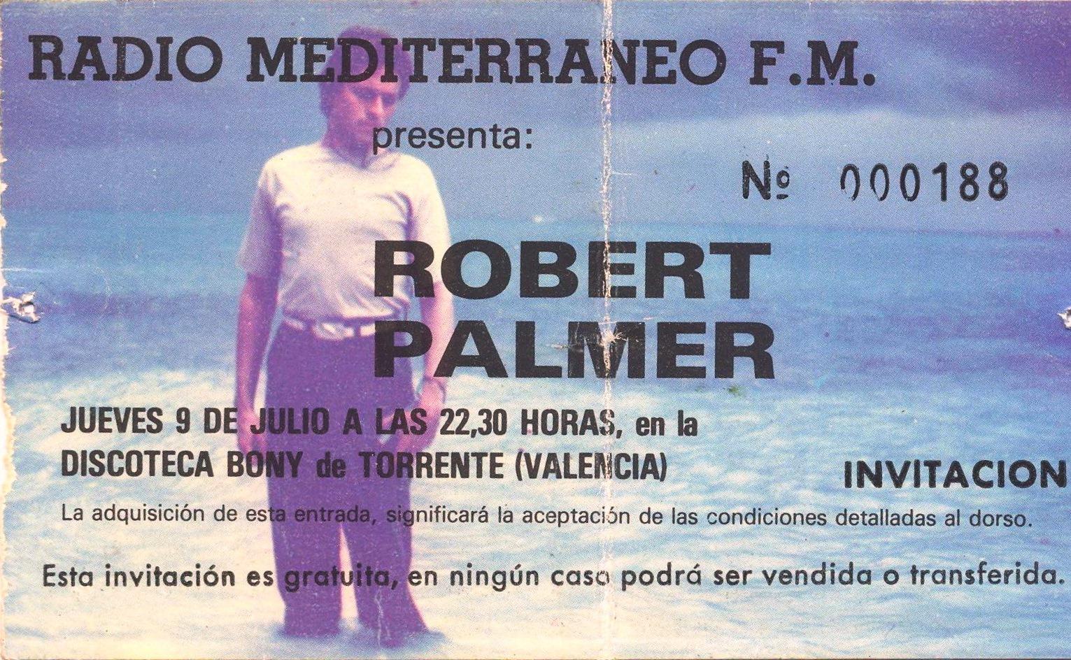 Robert Palmer en el Bony