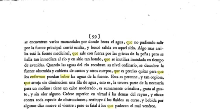 Observaciones sobre la Historia Natural, Geografía, Agricultura, población y frutos del reyno de Valencia. / Por don Antonio Joseé Cavanilles, Madrid, 1795-1797 (pág. 99)