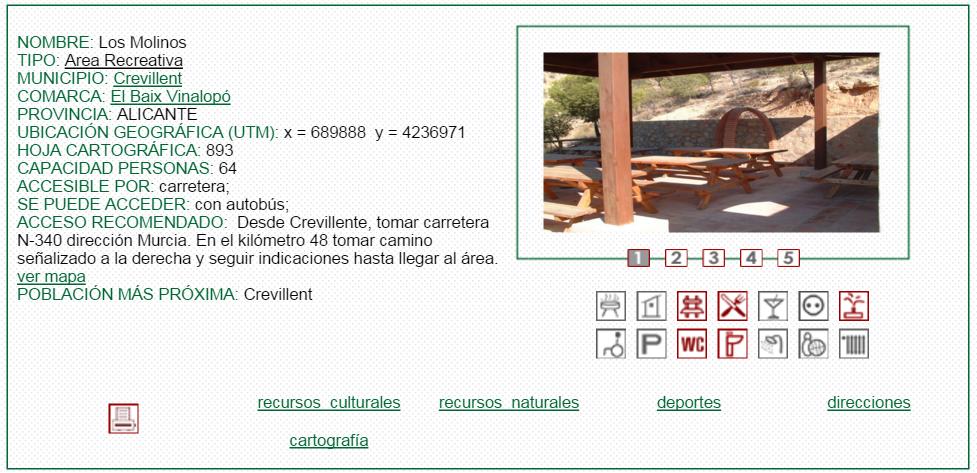 nº2 NOMBRE: Los Molinos. TIPO: Área Recreativa.