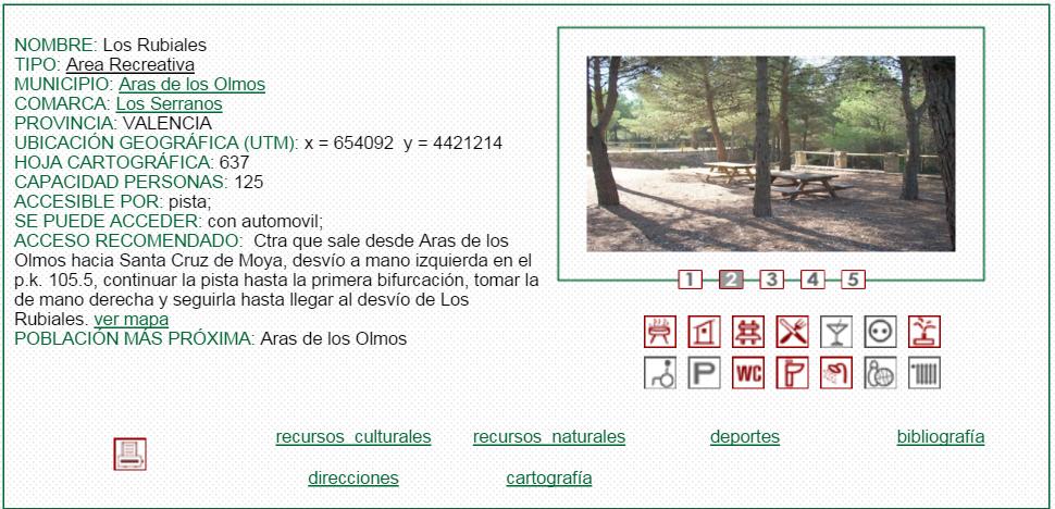 nº7 NOMBRE: Los Rubiales. TIPO: Área Recreativa.