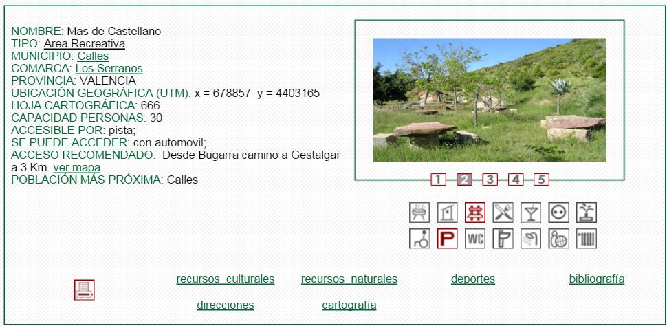 nª9 NOMBRE: Mas de Castellano. TIPO: Área Recreativa.