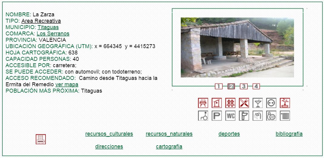 nº12 NOMBRE: La Zarza. TIPO: Área Recreativa.