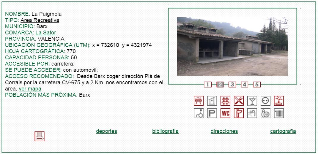 nº14 NOMBRE: La Puigmola. TIPO: Área Recreativa.