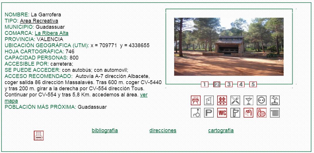 nº15 NOMBRE: La Garrofera. TIPO: Área Recreativa.