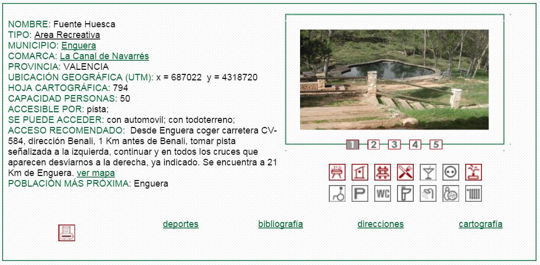 nº16 NOMBRE: Fuente Huesca. TIPO: Área Recreativa.