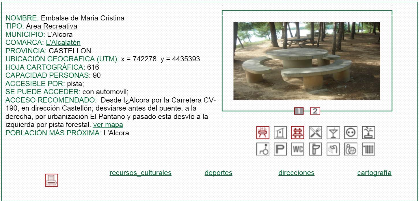 nº19 NOMBRE: Embalse de María Cristina. TIPO: Área Recreativa.