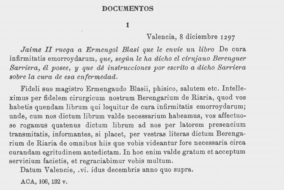 """Extraído de: """"LA PATRIA Y LA FAMILIA DE ARNAU DE VILANOVA: a propósito de un libro reciente. JOAQUÍN CARRERAS Y ARTAU MIGUEL BATLLORI, S. l."""
