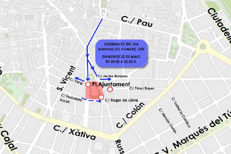 22 de mayo información Día Del Comercio Justo Valencia.