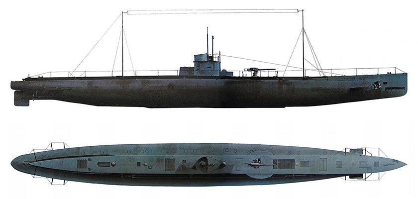 Maqueta de un U-34, como el que derribo al Dorothy-Duff. Fuente: aforjar.wordpress.com