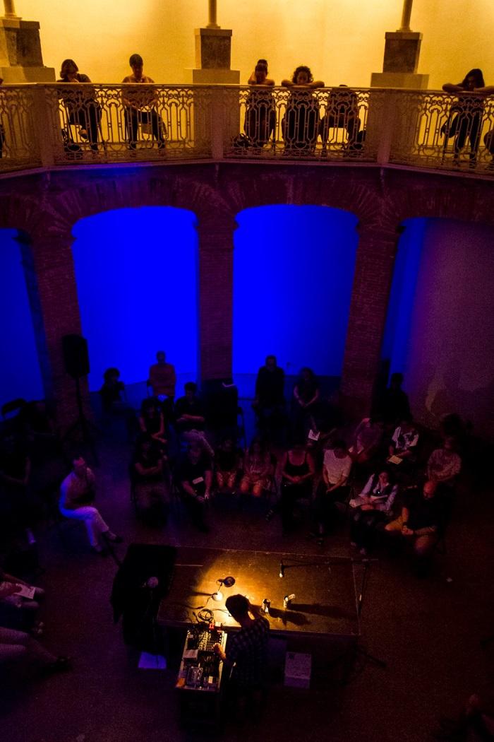 Fotografía de La Gallera de Velencia del 18 de junio de 2016 del Ensems, festival de música contemporània. Foto: Paula Felipe Guillem