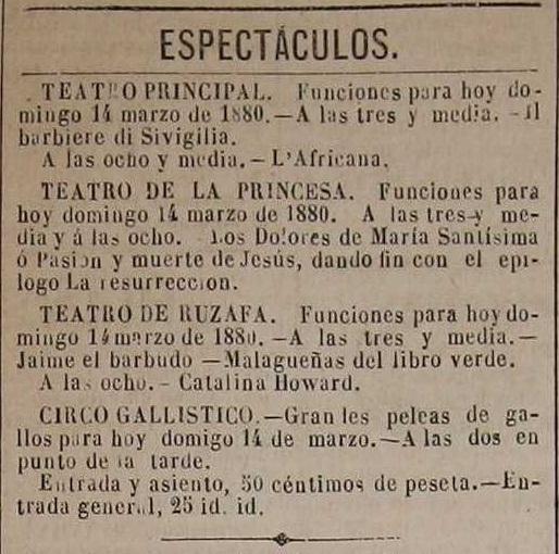 El Católico, periódico monárquico de Valencia (14-03-1880).