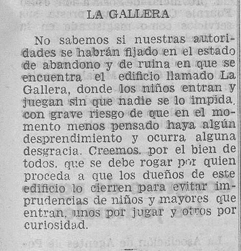 """Información sobre La Gallera de """"Carcagente"""" publicada en Las Provincias : diario de Valencia Año 69 Número 20152 - 1934 Agosto 08"""