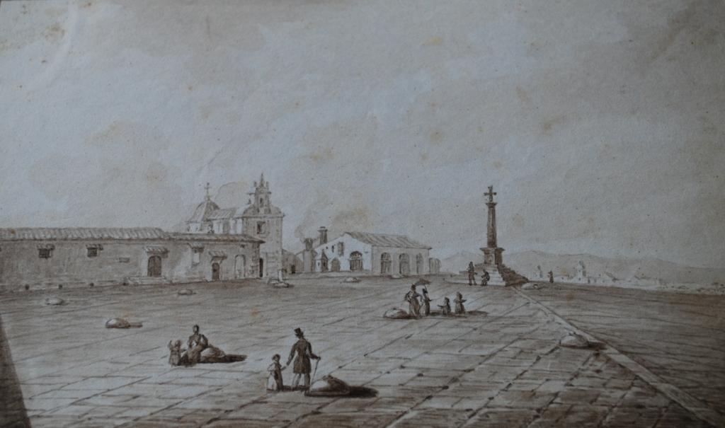 Montesinos i Ramiro (1844(. Explanada de los Silos. Aguadas sobre papel.