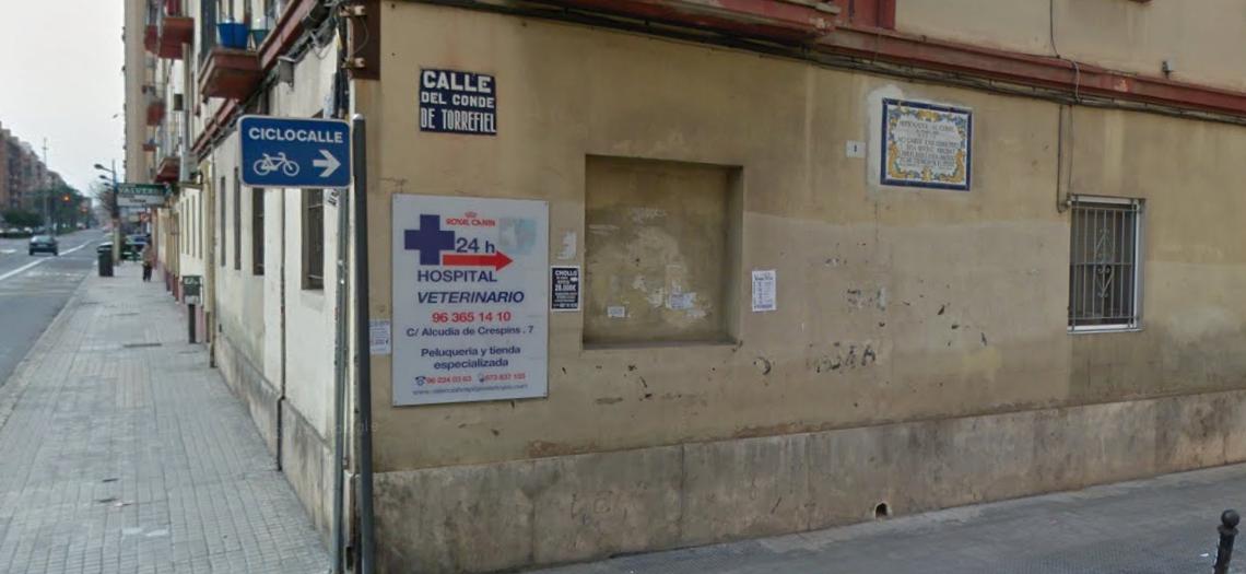 Lugar donde se encuentra el azulejo conmemorativo.