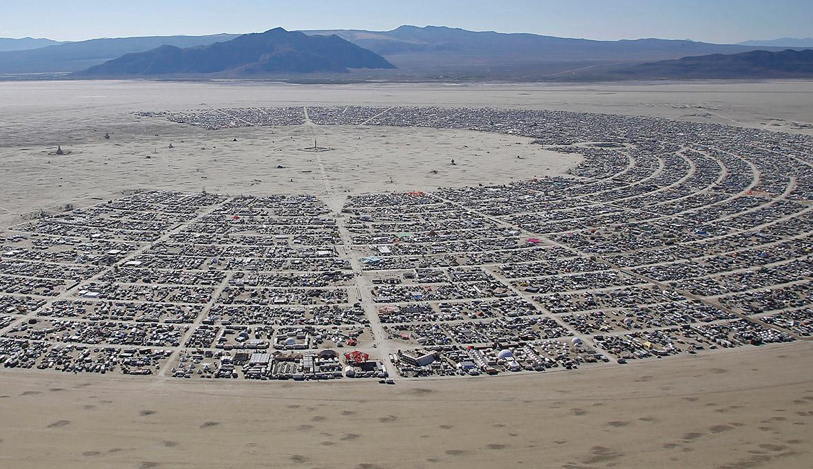 Burning Man en 2014. Fuente: www.ibtimes.co.uk