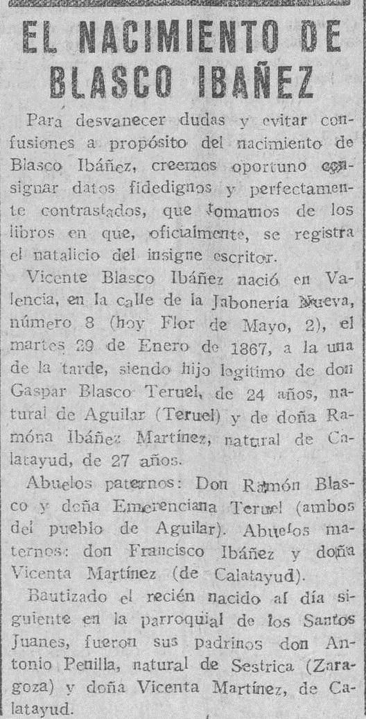 El Pueblo : diario republicano de Valencia (31/01/1928).