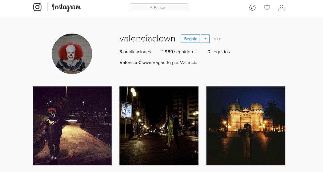 valenciaclown en Instagram
