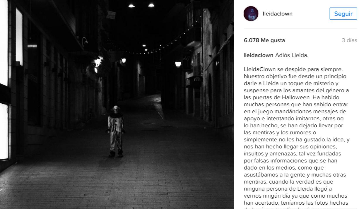 Imagen de lleidaclown en instagram