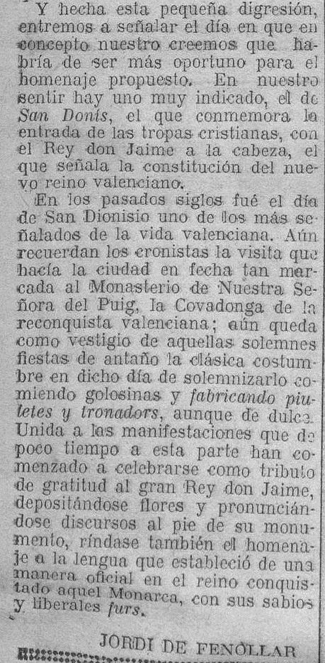 Las Provincias, 26 de julio de 1930.