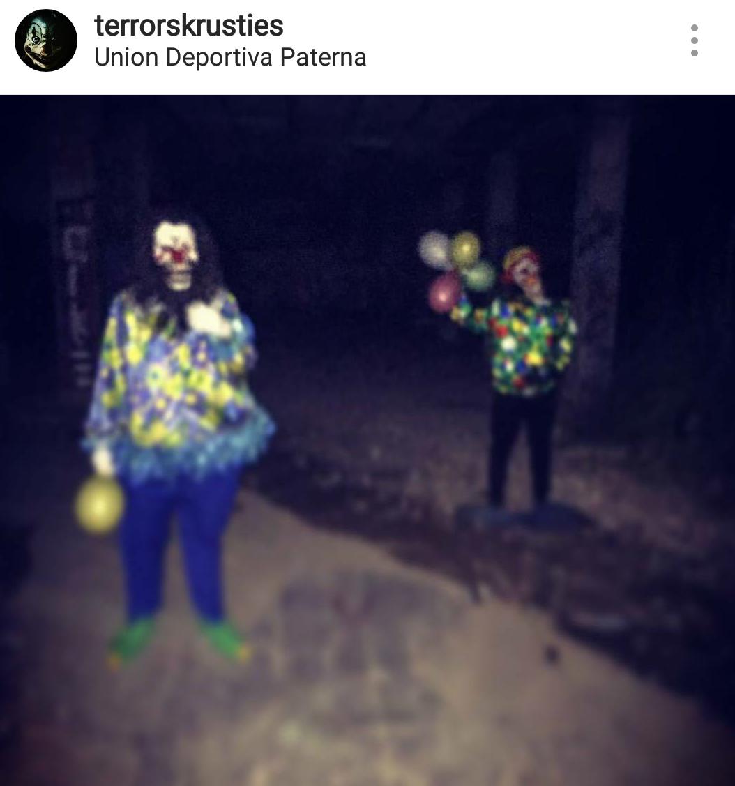 Fotos de los payasos diabólicos de Paterna
