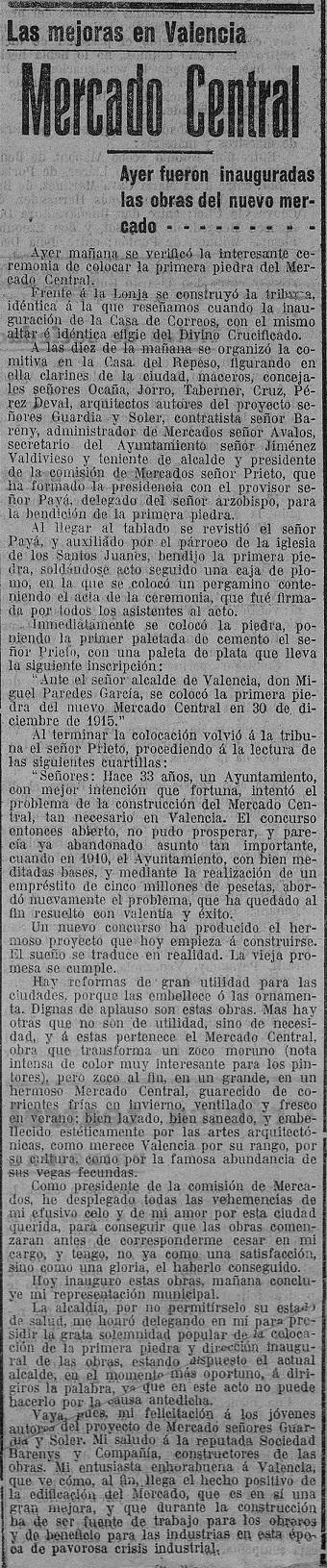 Las Provincias (31/12/1915)