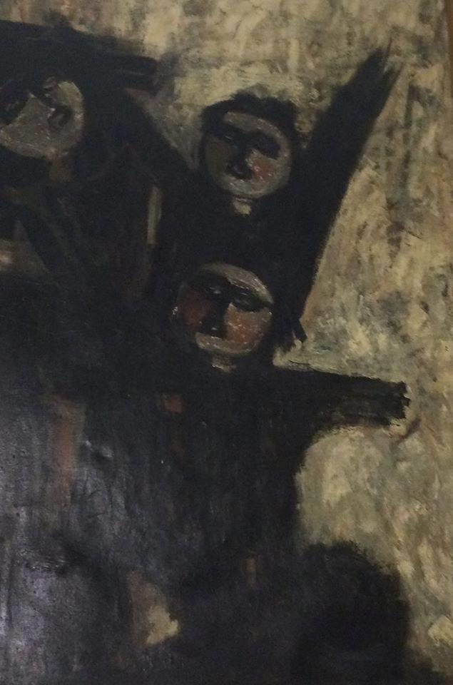 "Obra titulada ""In Extremis"", por Aurora Valero, año 1968. XI Salón de Otoño, Accesit Premio Ateneo Mercantil."