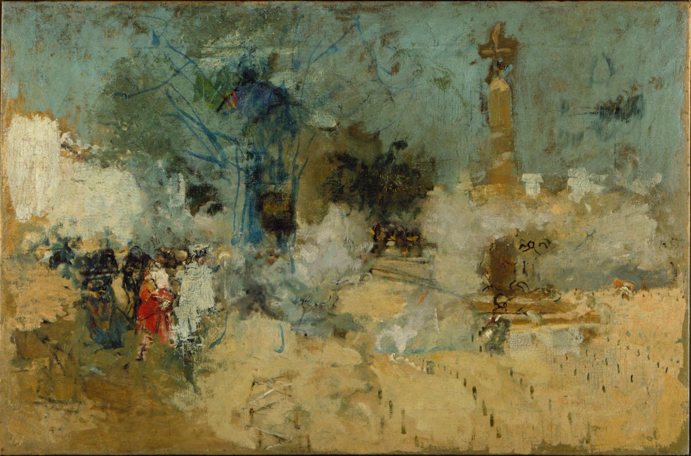 """Ignacio Pinazo, sin fecha (se cree que es de finales del siglo XIX), obra titulada """"Mascletà"""", expuesta en el IVAM."""