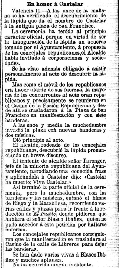 La Vanguardia, lunes 12 de febrero de 1900, página 2