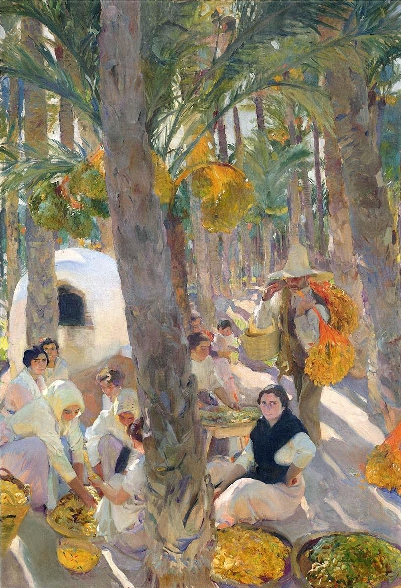 Elche, El Palmeral. Visión de España de Joaquín Sorolla en la Sociedad Hispánica de Nueva York.